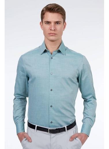 Hemington Uzun Kollu Klasik Gömlek Yeşil